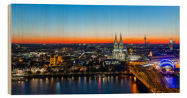 Obraz na drewnie  Colorful Cologne skyline at night