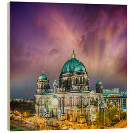 Obraz na drewnie  Berliner Dom - German Cathedral at sunset