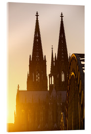 Obraz na szkle akrylowym  Sunset behind the Cologne Cathedral