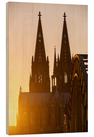 Obraz na drewnie  Sunset behind the Cologne Cathedral