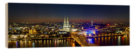 Obraz na drewnie  A panoramic view of cologne at night