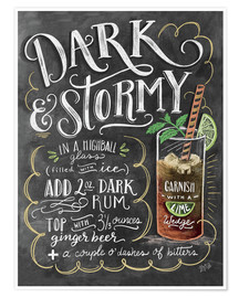 Plakat  Dark & Stormy cocktail recipe - Lily & Val