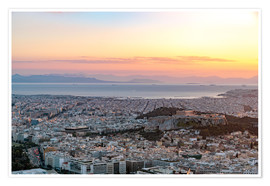 Plakat Sunset in Athens