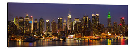 Obraz na aluminium  Illuminated night skyline, New York