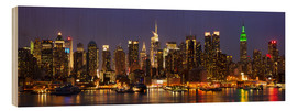 Obraz na drewnie  Illuminated night skyline, New York