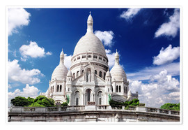 Plakat Sacre Coeur Cathedral on Montmartre