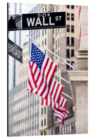 Obraz na aluminium  Wall street sign, New York Stock Exchange
