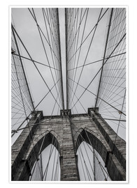 Plakat  Brooklyn Bridge in New York