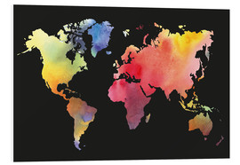 Obraz na PCV  World map in Watercolor