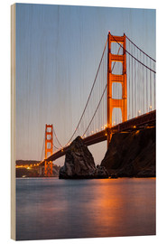 Obraz na drewnie  ?San Francisco Golden Gate Bridge at sunset
