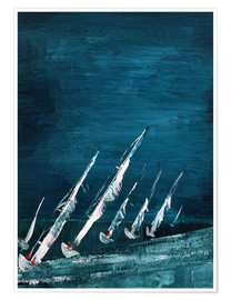 Plakat Sailboats, abstract