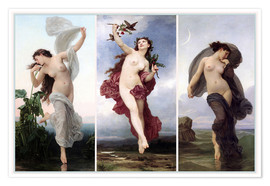 Plakat The times of day (Triptych)