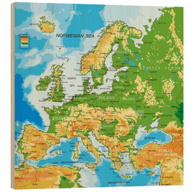 Obraz na drewnie  Map of Europe
