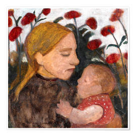 Plakat Young woman with child