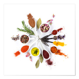 Plakat  Spice and herb'clock