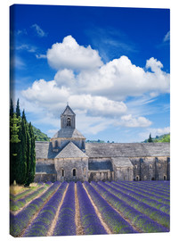 Obraz na płótnie  Sénanque abbey with lavender field, Provence, France