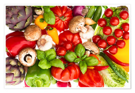 Plakat  Fresh vegetables and herbs