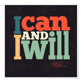 Plakat  I can and I will - Typobox