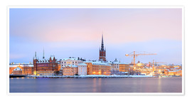 Plakat Panoramic cityscape of Stockholm, Sweden