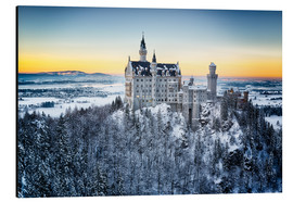 Obraz na aluminium  Neuschwanstein in the snow