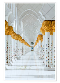 Plakat Detail of Sheikh Zayed Mosque