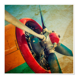 Plakat Rotor Blades of a Military Plane