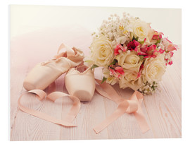 Obraz na PCV  Ballet shoes with bouquet