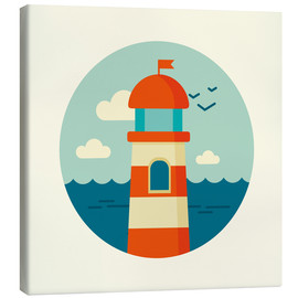 Obraz na płótnie  Lighthouse in a circle - Kidz Collection