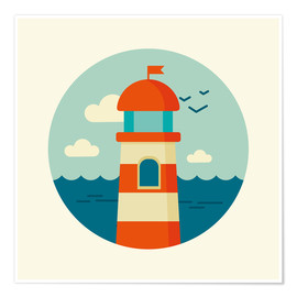 Plakat Lighthouse in a circle