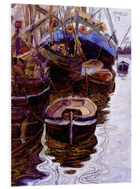 Obraz na PCV  Boats in the port of Trieste - Egon Schiele