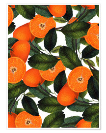 Plakat Orange pattern