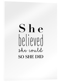 Obraz na szkle akrylowym  She Believed She Could... - Finlay and Noa