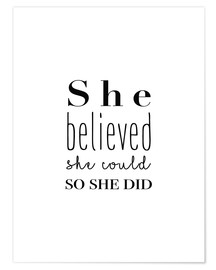 Plakat  She Believed She Could... - Finlay and Noa