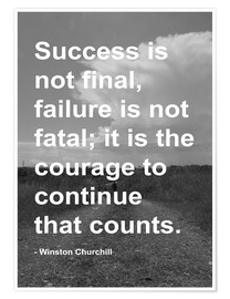 Plakat  Winston Churchill on Courage - Finlay and Noa
