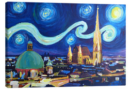 Obraz na płótnie  Starry Night in Vienna Austria   Saint Stephan Cathedral Van Gogh Inspirations - M. Bleichner