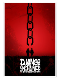 Plakat Django Unchained - Minimal - Tarantino Alternative