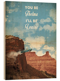 Obraz na drewnie  Thelma and Louise - 2ToastDesign