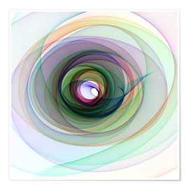 Plakat Colourful spiral