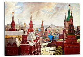 Obraz na aluminium  Aerial view of the Kremlin in Red Square, Moscow