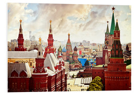 Obraz na PCV  Aerial view of the Kremlin in Red Square, Moscow