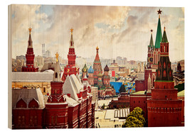 Obraz na drewnie  Aerial view of the Kremlin in Red Square, Moscow