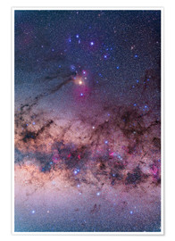 Plakat  Scorpius with parts of Lupus and Ara regions of the southern Milky Way. - Alan Dyer