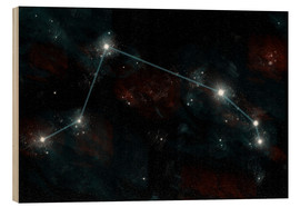 Obraz na drewnie  Artist's depiction of the constellation Aries the Ram. - Marc Ward