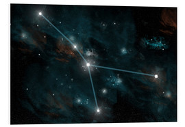 Obraz na PCV  An artist's depiction of the constellation Cancer. - Marc Ward