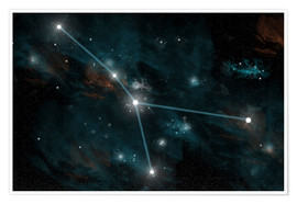 Plakat  An artist's depiction of the constellation Cancer. - Marc Ward