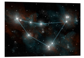 Obraz na PCV  Artist's depiction of the constellation Capricorn the Sea Goat. - Marc Ward