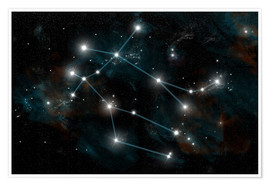 Plakat  Artist's depiction of the constellation Gemini the Twins. - Marc Ward