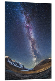 Obraz na PCV  Milky Way over the Columbia Icefields in Jasper National Park, Canada. - Alan Dyer