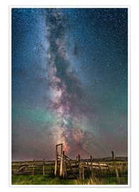 Plakat  Milky Way over an old ranch corral. - Alan Dyer