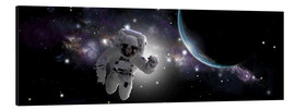 Obraz na aluminium  Astronaut floating in outer space - Marc Ward